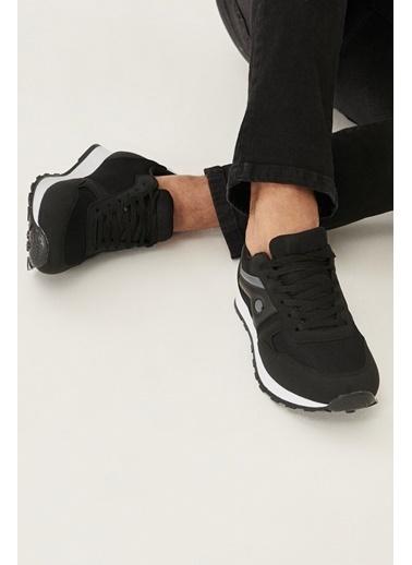 AC&Co / Altınyıldız Classics Casual Spor Sneaker Ayakkabı 4A2221100008 Siyah